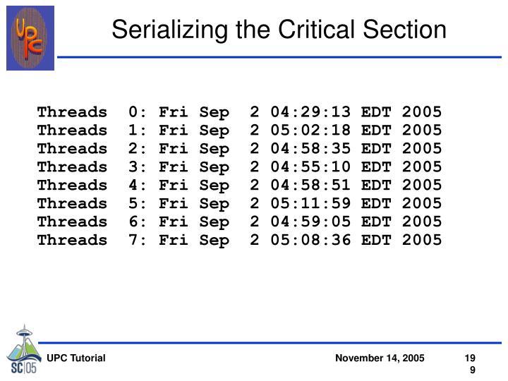 Threads  0: Fri Sep  2 04:29:13 EDT 2005