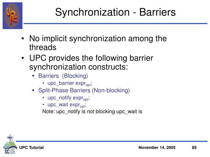 Synchronization - Barriers