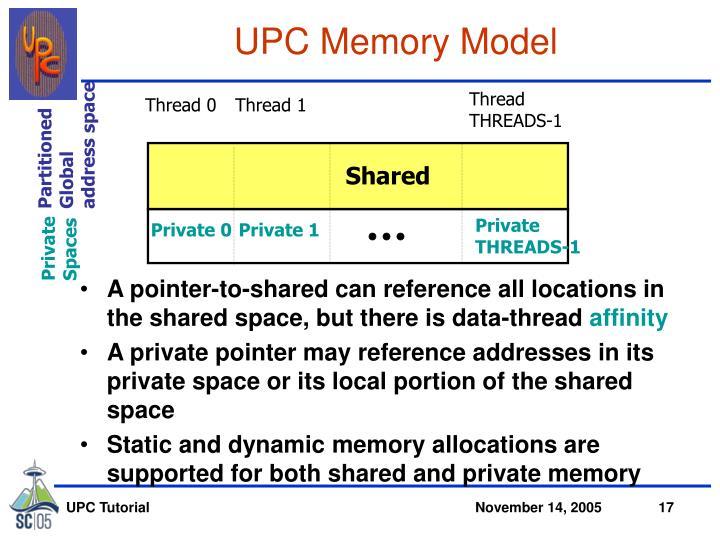 UPC Memory Model