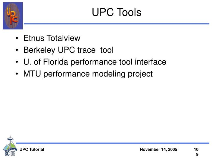 UPC Tools