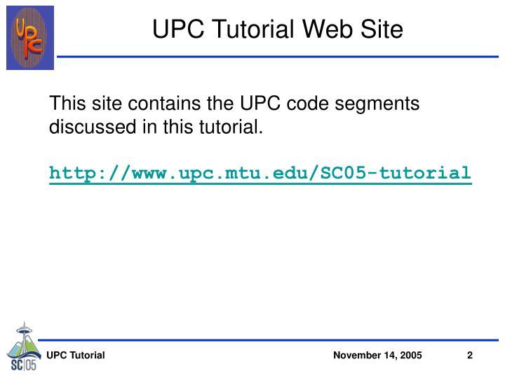 Upc tutorial web site