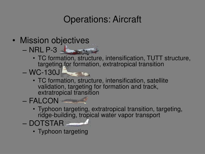 Operations aircraft