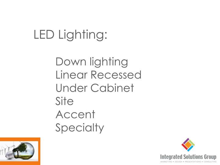 LED Lighting: