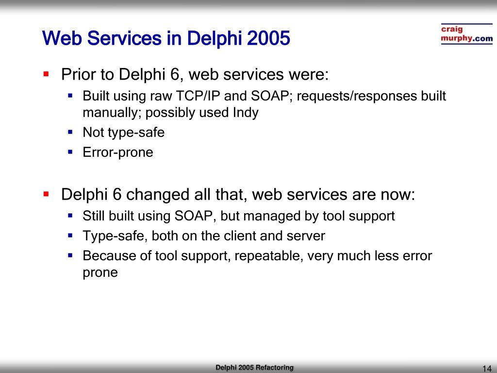 PPT - XML and Web Services Delphi 2005 Win32 PowerPoint