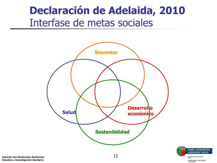 Declaración de Adelaida, 2010