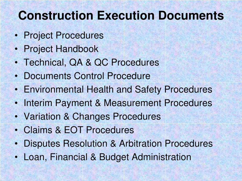 PPT - CONSTRUCTION DOCUMENTS PowerPoint Presentation - ID