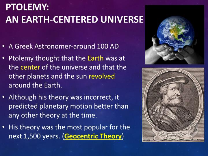 ptolemys astronomy essay The geocentric model of the universe, in which the sun  astronomy cast also has an episode on the subject, titled episode 77: where is the center of the universe.