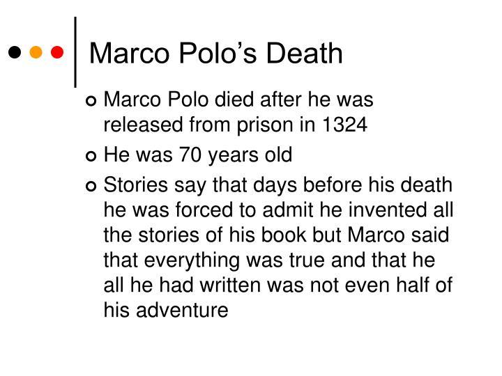 Marco Polo's Death