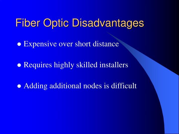 Fiber Optic Disadvantages