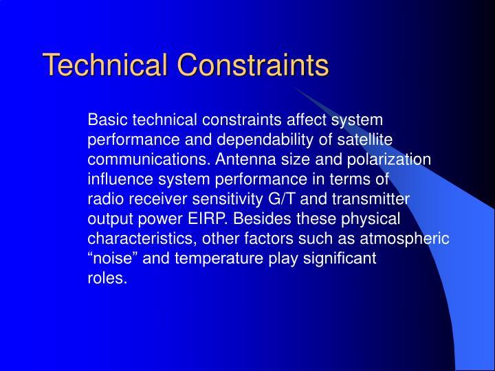 Technical Constraints