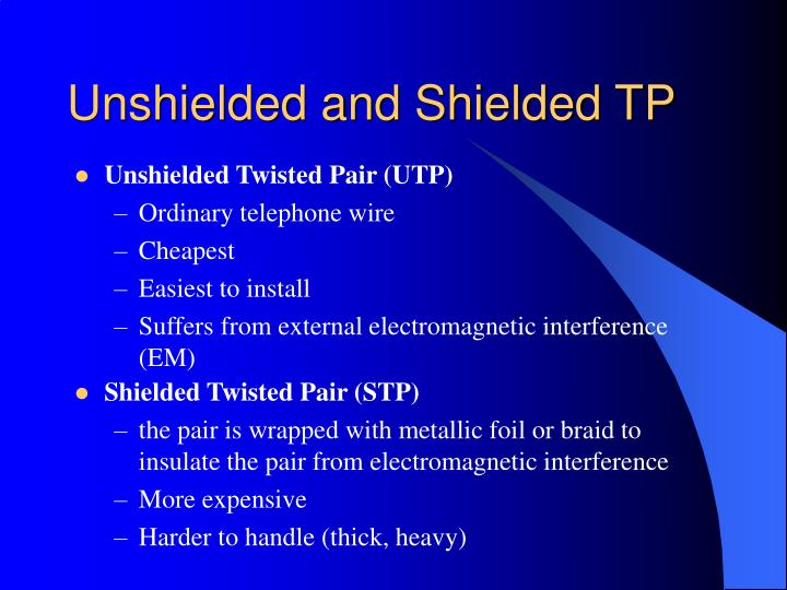 Unshielded and Shielded TP