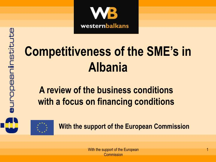 competitiveness of the sme s in albania n.