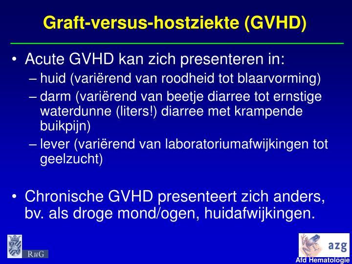 Graft-versus-hostziekte (GVHD)