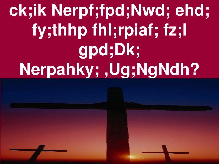 ck;ik Nerpf;fpd;Nwd; ehd;