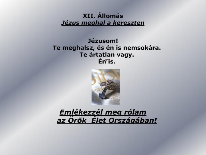 XII. Állomás