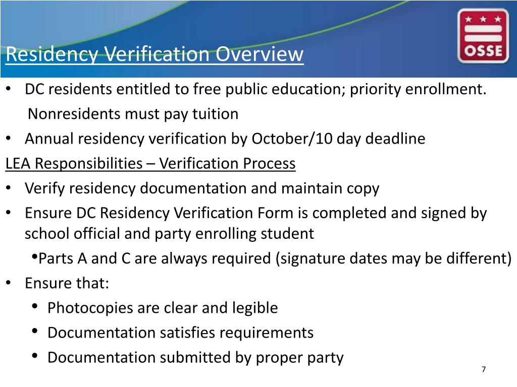 Ppt Enrollment Audit Residency Verification Lea Training Session Powerpoint Presentation Id 6994271