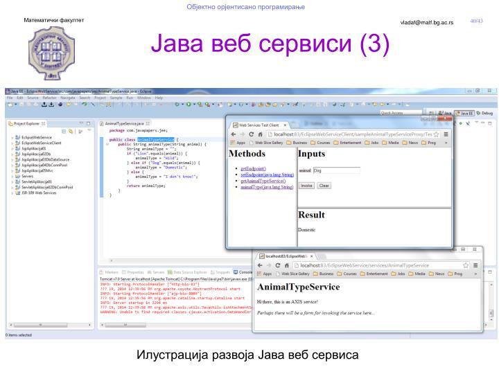 Јава веб сервиси (3)