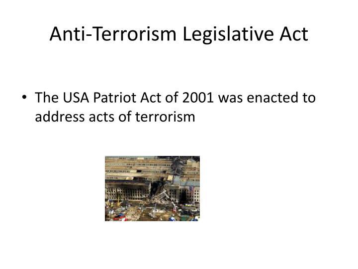 Anti-Terrorism Legislative Act