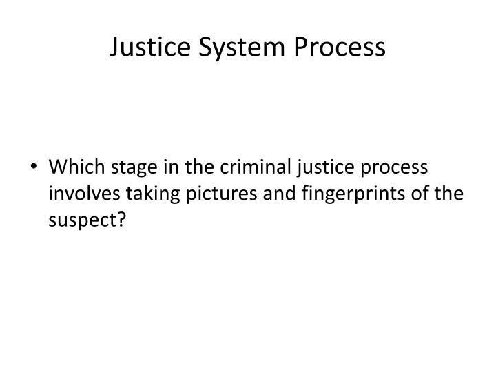 Justice System Process