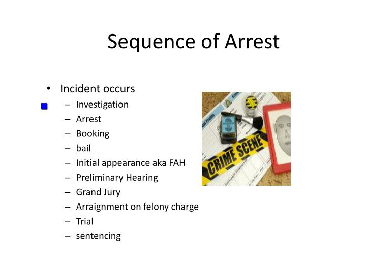 Sequence of Arrest