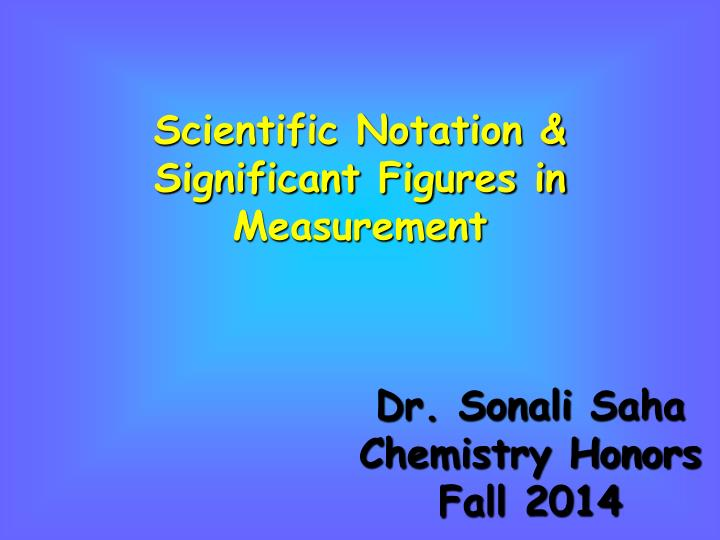 scientific notation significant figures in measurement n.