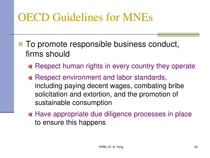 OECD Guidelines for MNEs
