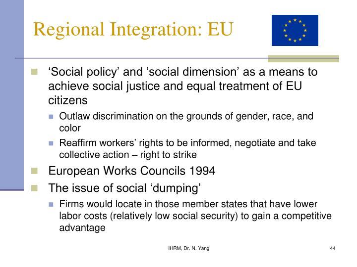 Regional Integration: EU