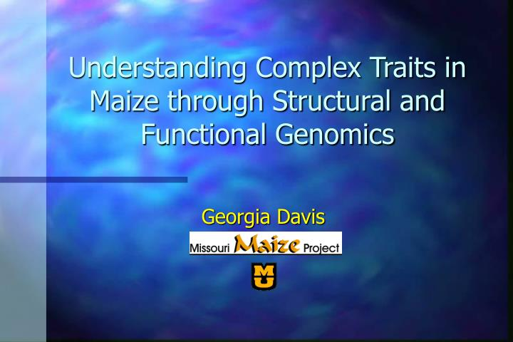 understanding complex traits in maize through structural and functional genomics n.