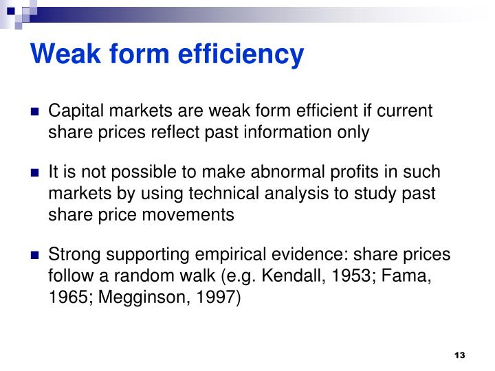 PPT - Capital Markets and The Efficient Market Hypothesis ...