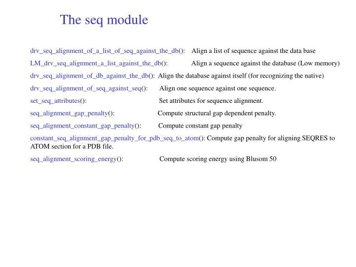 The seq module
