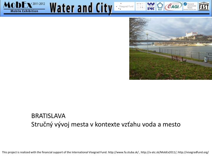 Bratislava stru n v voj mesta v kontexte vz ahu voda a mesto