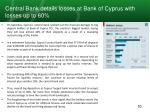 central bank details losses at bank of cyprus with losses up to 60