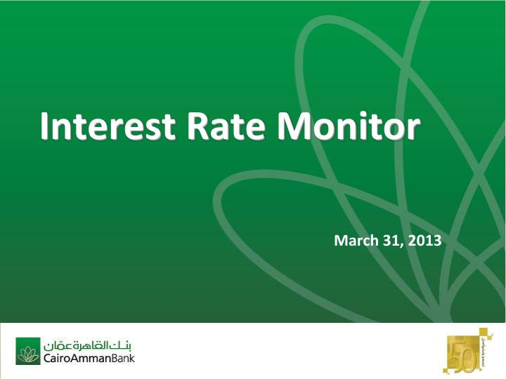 interest rate monitor n.