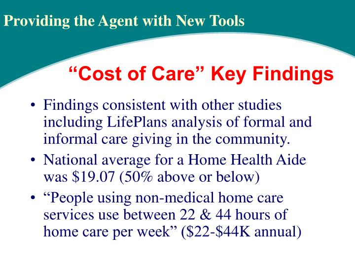 Findings consistent with other studies including LifePlans analysis of formal and informal care giving in the community.