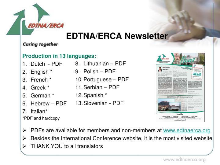 EDTNA/ERCA Newsletter