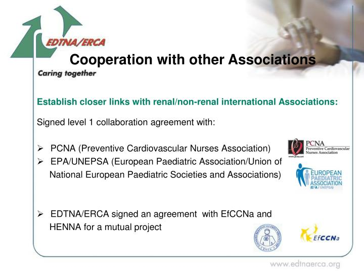 Cooperation with other Associations