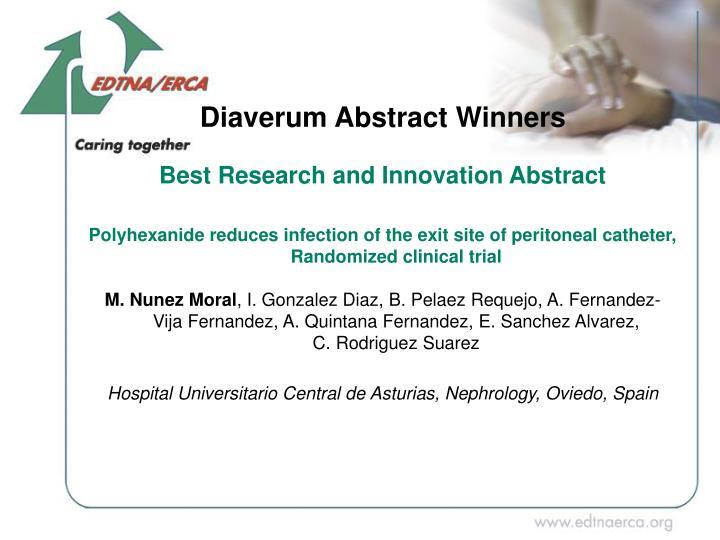 Diaverum Abstract Winners