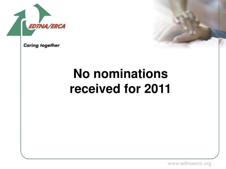 No nominations
