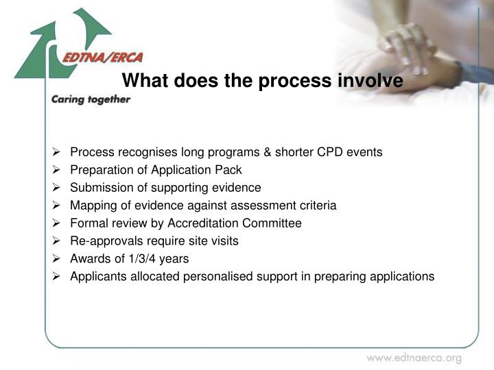 What does the process involve