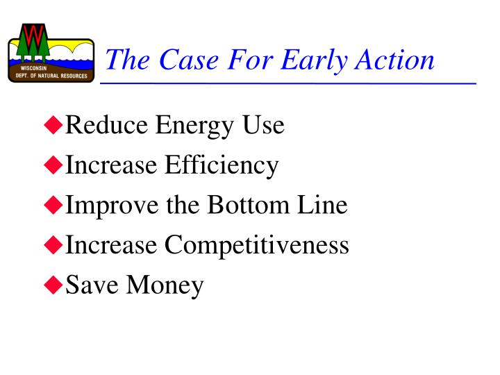 the case for early action n.
