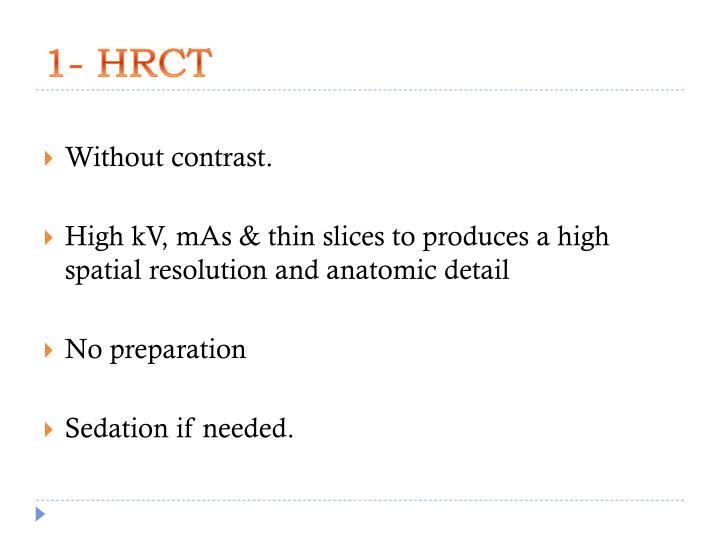 1- HRCT