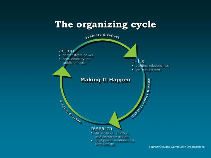 The organizing cycle