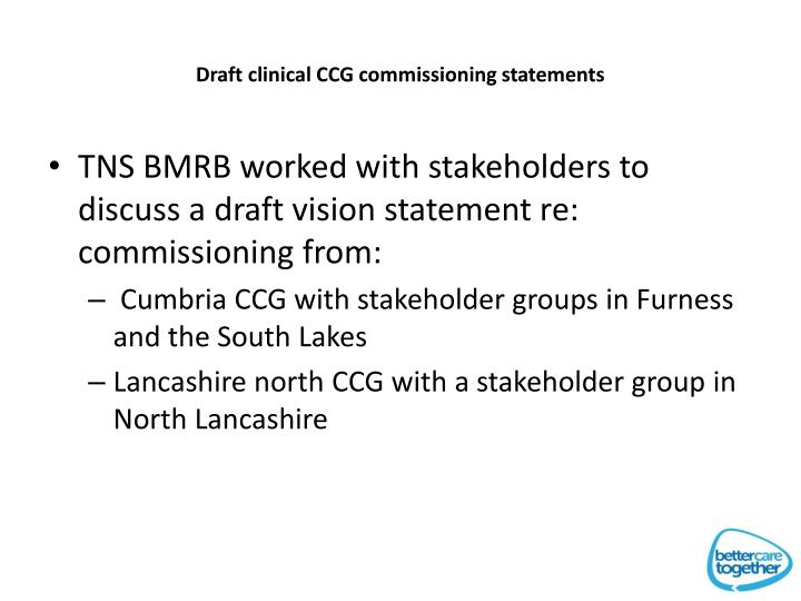 Draft clinical CCG commissioning statements
