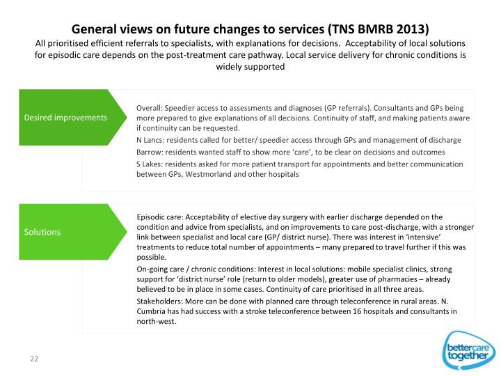 General views on future changes to