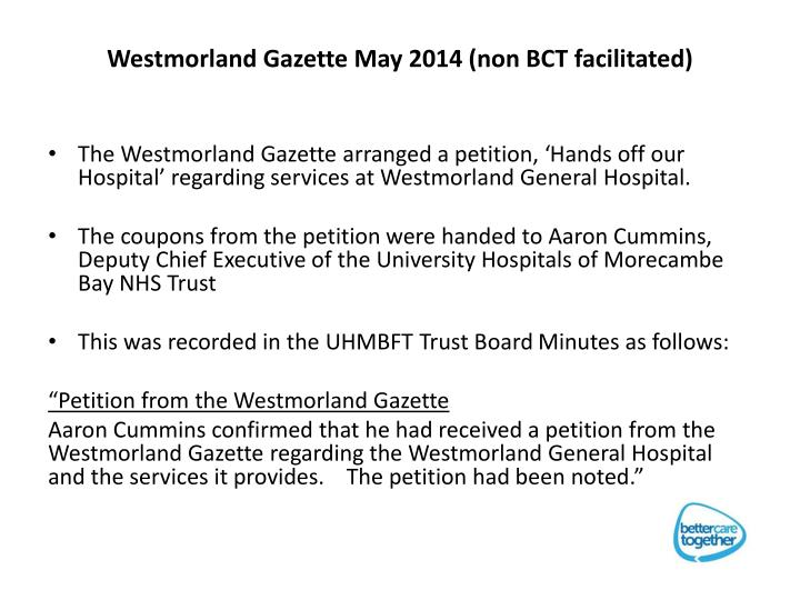 Westmorland Gazette May 2014 (