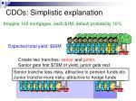 cdos simplistic explanation