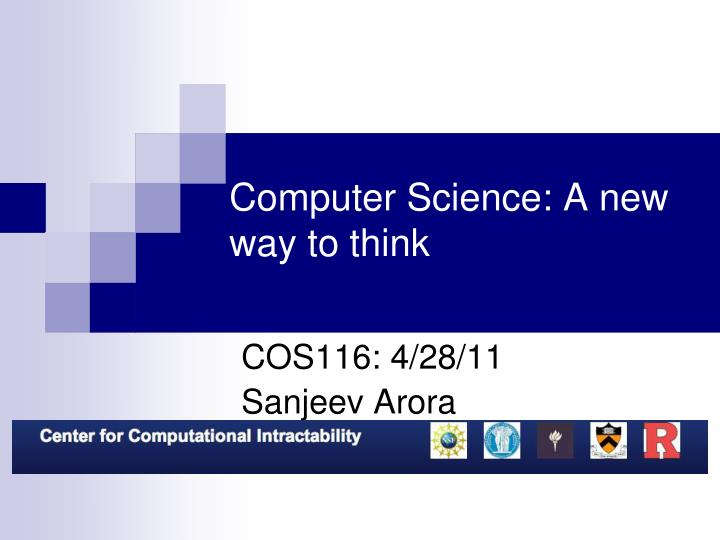 computer science a new way to think