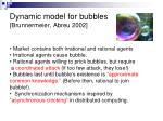 dynamic model for bubbles brunnermeier abreu 2002
