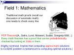 field 1 mathematics