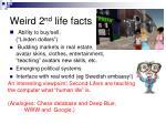 weird 2 nd life facts